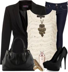 Jeans and Structured Jacket